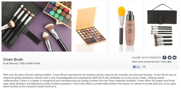 Crown Brush on Hautelook for the weekend!